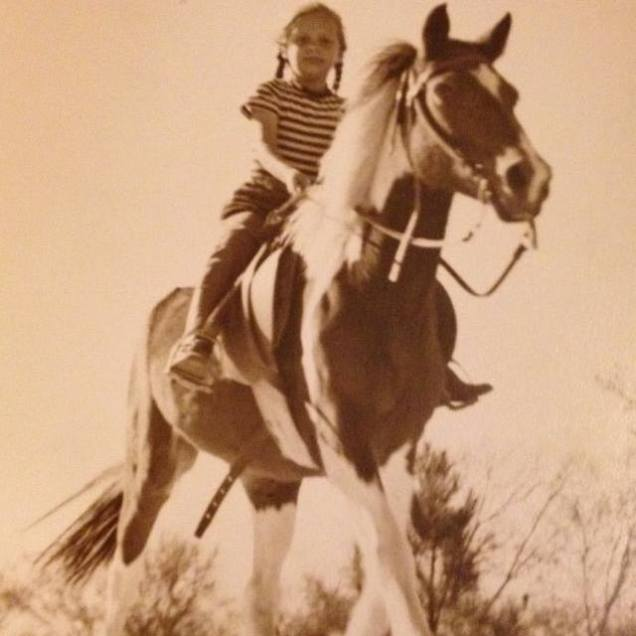 My Great Uncle took this photo of my Grandmother on her pony, Pinto. I just love it.