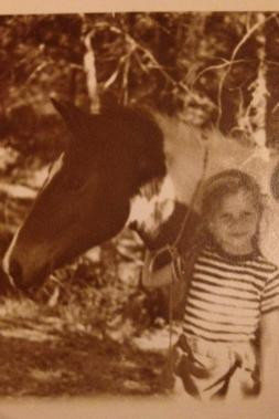 My Grandmother with her pony, Pinto.